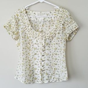 Nick & Mo Floral Button Front Shirt